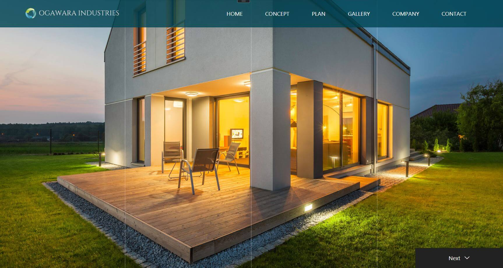 小河原産業株式会社 ホームページ トップ画面