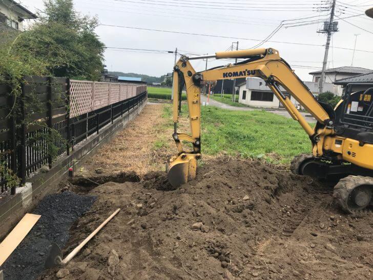 大田原市 O様邸 外構工事 ブロックベースコンクリートの施工