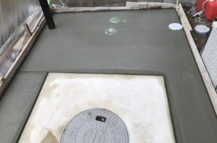 大田原市 O様邸 外構工事 外構工事 テラス土間コンクリート工事