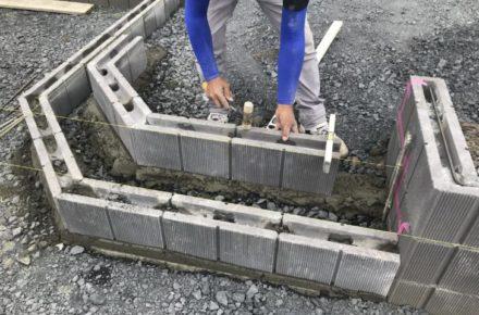 大田原市 O様邸 外構工事 階段蹴上工事