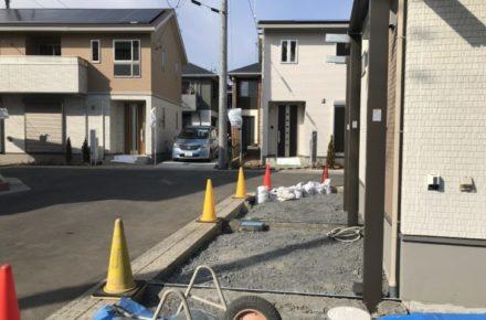 宇都宮市 M様邸 カーポート施工風景
