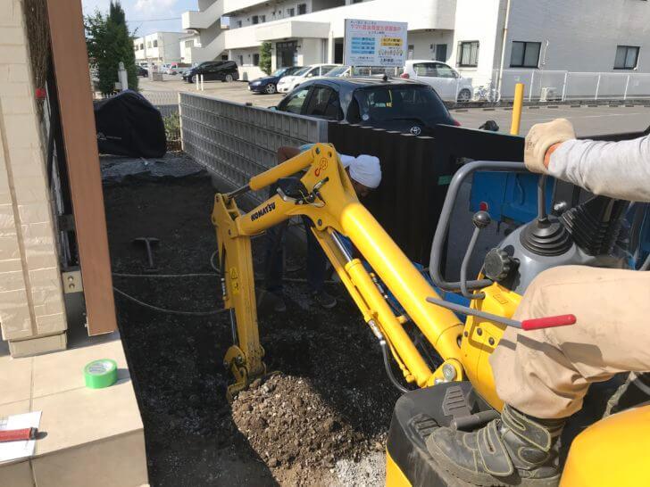 宇都宮市 A様邸 駐輪スペース掘削