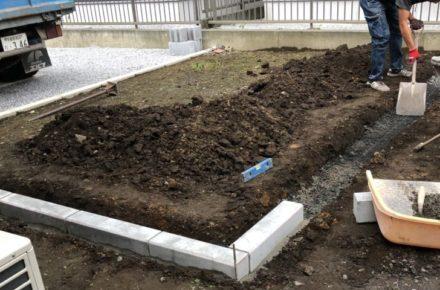 宇都宮市 M様邸 ガーデン工事着工